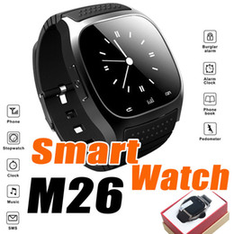 Wholesale Camera Sms - Waterproof Smart Watch M26 Bluetooth Smartwatches Dial SMS Remind Pedometer for IOS iPhone Android Samsung Silicone Wristwatch DZ09 U8 GT0