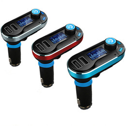 Wholesale Car Charger Usb Box - BT66 Wireless Bluetooth FM Transmitter 2.1 A Dual USB Car Charger MP3 Player Car Kit Handfree With Retail Box