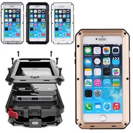 "Wholesale Heavy Duty Aluminum Iphone Cases - For IPHONE 6P 6S 7 7Plus 4.7"" 5.5 inch good quality Heavy Duty Shock Drop Waterproof Aluminum Metal Phone Cover Protection case for i5 5S"
