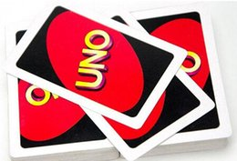 Wholesale Fun Entertainment - UNO poker card standard edition family fun entertainment board game Kids funny Puzzle game in Stoc