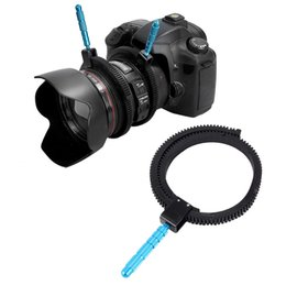 Wholesale Focus Gear - Wholesale- For SLR DSLR Camera Accessories Adjustable Rubber Follow Focus Gear Ring Belt with Aluminum Alloy Grip for DSLR Camcorder Camera