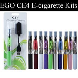 Encomendar cigarros eletrônicos on-line-Ego CE4 Blister Kits CE4 Cigarro Eletrônico E shisha 650 mah 900 mah 1100 mah ego Bateria Bateria Atomizador Colorido ordem misturada disponível