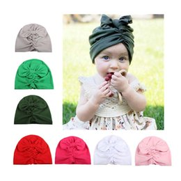 Wholesale Infant Ruffle Hat - New 2017 cute hats wholesale Ruffle bow Baby Hat Infant Beanies Newborn Hats Toddler Cap Baby Girls Caps Baby Gift A928