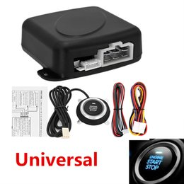Wholesale Keyless Entry Remote Start Alarm - Universal Car Alarm Start Security System Key Passive Keyless Entry Push Button Kit Black