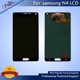 Wholesale Note Assembly - Good Quality Brand New Galaxy Note 4 Black LCD Display Touch Screen Digitizer Assembly & Free DHL Shipping