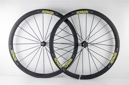 Wholesale Carbon Wheels For Road Bicycles - road bikes carbon wheelset 700c 38mm carbon clincher wheels for road bicycle novatec hubs 271 372 25mm wide road bike