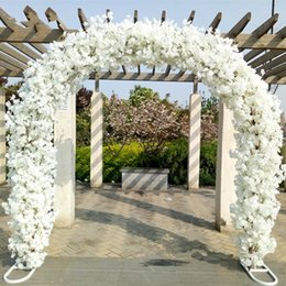 Wholesale Quality Sites - High Quality Wedding Site Layout Mall opening Arches Sets Event Decoration Supplies (Arch shelf+Cherry blossoms) Free Shipping