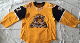 Wholesale Game Worn Jersey - throwback ice hockey jersey#92 Peter Sakaris Jersey,Peter Sakaris Game Worn Shawinigan Cataractes Jersey Evansville Icemen Any Name and Any