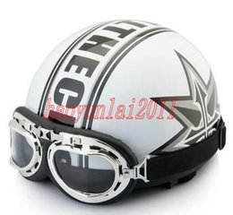 Wholesale New Helmet Summer - Fashion new Motorcycle Helmets ABS portable-type half helmet summer winter helmet Four Seasons General white helmet top sale free shipping