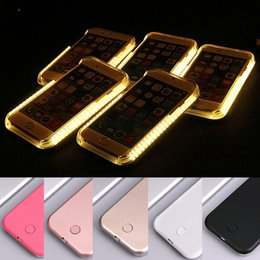 Wholesale Filling Case - For iPhone 8 7 6S 6 Plus Light Case Selfile Fill LED Luminous Phone Back Cover for iPhone7 7Plus iPhone8