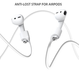 Wholesale Earphone Bluetooth Cable - For Apple Airpods Headphones Anti Lost Strap Loop String Rope for Air Pods Bluetooth Earphone Silicone Cable Cord Accessories