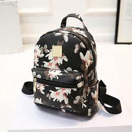 Wholesale Backpack Trendy - Wholesale- New Trendy Women's Floral Printed Satchel School Bookbag Shoulder Bag Rucksack Backpack