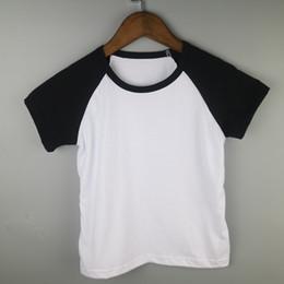 Wholesale Raglan Tees - blank unsix tees kid t-shirt child t-shirts boy raglan t-shirts baseball tees shirts boy raglan tops short sleeve summer shirts