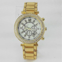 Wholesale Rose Gold Diamond Watch Women - Famous M brand Fashion top women man watch luxury watch with diamond silver rose gold lovers watch high quality free shipping