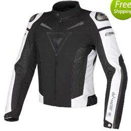 Wholesale Men Motorcycle Summer Jacket - Free shipping Motorcycle Jacket Racing Super Speed Textile Motorcycle Jacket summer models mesh fabric coat windproof White Black red blue