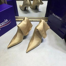 Wholesale High Heels Size 42 - Luxury Brand Women High Heel Shoes Sexy fluorescence Elastic wedding high-heeled shoes heels Fashion Party 10.5cm casual Shoe Size 35-42