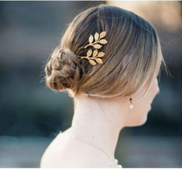 Wholesale Accesories Decorations - Classic Bridal Hair Accesories Gold Filled Olive Branch Leaf Wedding Head Pieces Wedding Hair Decorations Bridal Hair Pins