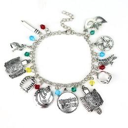 Wholesale Vampire Bracelet Charms - The Vampire Diaries inspired Charm Bracelet lena Stefan Damon Fandom Gift For Women Christmas Gifts