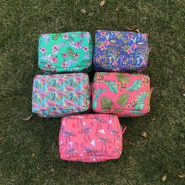 Wholesale Inspired Case - Wholesale Blanks DOMIL Unique Design Hawaii inspired Cosmetic Bag Hibiscus Flower Makeup Bag Aloha Cosmetic Case DOM103457