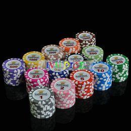 Глиняная монета онлайн-10 шт./компл. Crown Dollar Casino монеты Texas Holdem Clay Poker чипы высококлассный набор Pokerstars14g цвет профессиональный покер фишки IVU