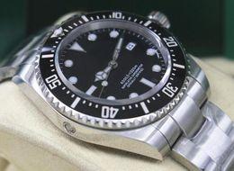 Wholesale Sea Dweller Automatic - Brand New Men's Automatic Dive Watch Men Ceramic Bezel Steel Blue Luminous Sea Black Dial 16600 Watches Calendar Sports Dweller Wristwatches
