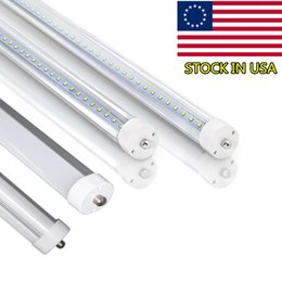 Wholesale T8 Tube Light Clear Cover - Stock In US+T8 LED Tube Light 8ft 45W, Single Pin FA8 Base, Clear Cover, Cool White 6000k, Fluorescent Tube Replacement