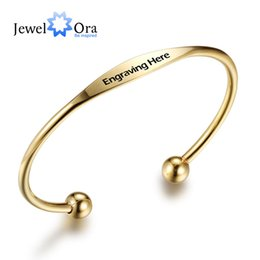 Wholesale Personalized Jewelry Friends - Personalized Bracelets Stainless Steel Women Bangles Fashion Jewelry For Party Best Friend Gift ( BA101713) 17401