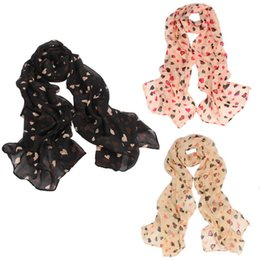 Wholesale Long Scarves For Summer - Wholesale-Delicate 2015 Summer Style Women Love Heart Soft Long Shawl Scarf Wrap Stole For Girls 3 Colors Hot Selling Jun30