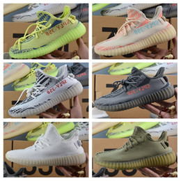 Wholesale Copper Rubber - Adidas Originals Yeezy 350 V2 Boost Beluga Cream White Copper Black Red Core Red Bred Zebra Black White Olive Green Kanye West Running Shoes