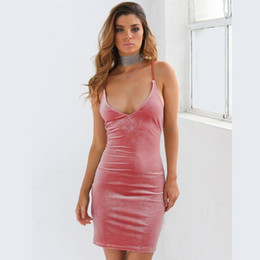 Wholesale Casual Silk Dresses For Women - Summer spaghetti strap party womens mini dresses sexy A line night club backless bandage dresses for womens free shipping