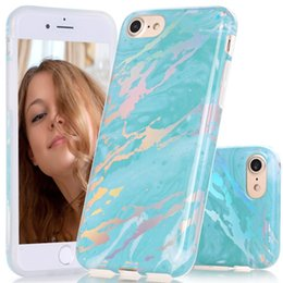 Wholesale Design Bling Case - Laser Style Marble Design Cover Case for iPhone X 8 7 6s 6 plus Sparkling Shiny Bling Felxible Soft TPU Case Opp Bag