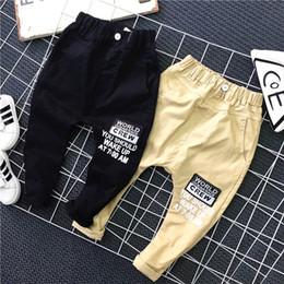 Wholesale Harem Children Jeans - Korean Boys Clothes new Fashion Spring Autumn Boys Pant letter Printed Children jeans Casual Harem Pants long Kids Khaki Trouser Sale A172