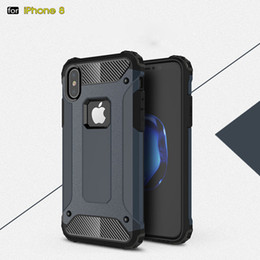 Wholesale Steel Phone Cases - For Apple iphone X 8 7 plus 6S Samsung Galaxy note8 S8 plus S8+ S7 edge S6 Steel armor TPU+PC cell phone cases DHL free SCA329