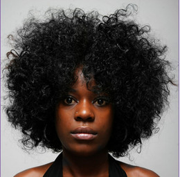 Wholesale Human Hair Cosplay Wigs - Hot Fashion Bob simulation Women wig Heat Resistant Short Cosplay Costume Black Kinky Curly human hair wigs for african american woman