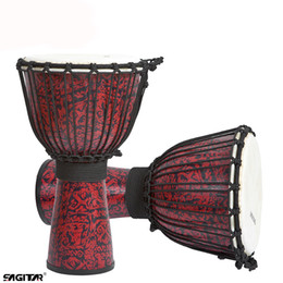 Wholesale Professional Drums - Wholesale- Hot New Portable Quality Drum Djembe glass steel 10 inch natural tambourine African drum sheepskin for drum heads professional
