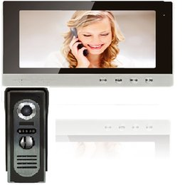 """Wholesale Security Camera System Wire - XSL-V10A Wired Villa Video Doorbell 10""""Color Screen Good View Intercom Home Security System Alloy Case 4-Wire Connect Smart Camera"""