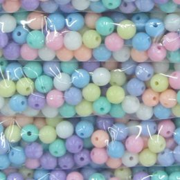 Wholesale Acrylic Loose Necklace Beads - 3 Size(6 8 10mm) Candy Color Bead Round Acrylic Spacer Beads 200pcs For Jewelry DIY Necklace Earring Bracelet Making Loose Beads