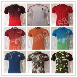 Wholesale Quick Drying Polo - top quality 2017 2018 milan Soccer Jerseys 17 18 DE.ROSSI TOTTI ICARDI CANDREVR KONDOGBIA HONDA BACCA MENEZ soccer polo Shirts