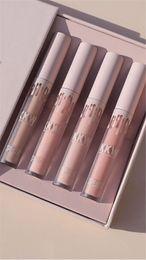 Wholesale Lipstick Orange Nude Color - 2017 Kylie Cosmetics Kkw X Kylie Creme Collection Liquid Lipsticks, 4 Piece Nude Color