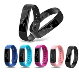 Wholesale Wholesale Outdoor Clocks - ID115 Smart Bracelet Fitness Tracker Step Counter Activity Monitor Band Alarm Clock Vibration Wristband for iphone Android phone