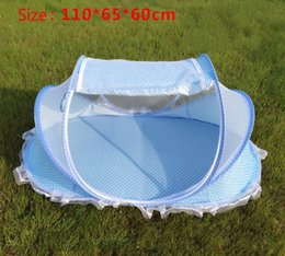 Wholesale Crib Mosquito Canopy - Wholesale-Foldable Portable Baby Crib Tent mosquito net Baby Bed canopy Newborn Sleep Travel Bed Newest barraca infantil cradle