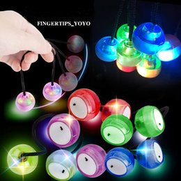 Wholesale Green Flash Games - LED Flashing Fidget Thumb Chucks with Plastic Balls Control Roll Game Finger Yo-Yo Ball Fidget Toys 4 Colors Anti Stress Novelty Finger Toys