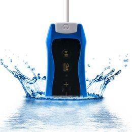 Wholesale Mp3 For Swimming - Wholesale- 4GB waterproof Mp3 music player with FM Radio Headphones Clip design for Swimming Running Diving Winter Sport