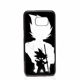 Wholesale mini son - DRAGON BALL Z Super Saiyan God Son Goku Phone Covers Shells Hard Plastic Cases For Samsung Galaxy S4 S5 MINI S6 S7 edge S8 S8 Plus