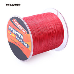 Wholesale Blue Lures - PROBEROS 500M PE Braided Fishing Line 4 Stands Multifilament Fishing Line Angling Accessories 6LBS to 80LB 5 Colors Fishing Lure +B