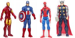 uniformi di combattimento militare nero Sconti The avengers 12 pollici spider-man iron man capitan wolverine player degli Stati Uniti del mondo Vinyl Figure Collection Gift Toy