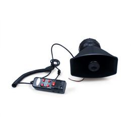 Wholesale Car Pa - 12v 5 Sound Car Warning Alarm Siren Horn Pa Speaker System Amplifier Mic Epyg
