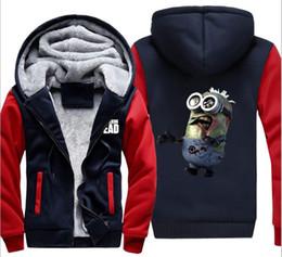 Wholesale Active Walking - 2017 Winter&autumn Minions The Walking Dead Hoodies Zombie Jacket Thicken Fleece Sweatshirt Zipper Man fashion Coat Plus Size