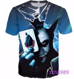 Wholesale Dark Knight Joker Shirt - The Dark Knight Newest Fashion Mens Womens Clown Joker with Batman Summer Style Funny Unisex 3D Print Casual T-Shirt S---5XL AA444