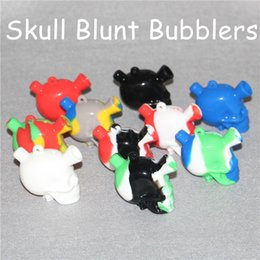Wholesale Bubble Pipes - Martian Travel Mini Bongs The Martian silicone Blunt Bong Bubbler Joint Smoking Bubble Small Water Pipe Skull Pipes Hand Pipe